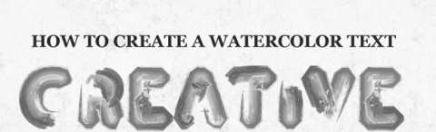 How To Create A Quick And Easy Chrome Text Effect In Photoshop Watercolortexteffectdesign