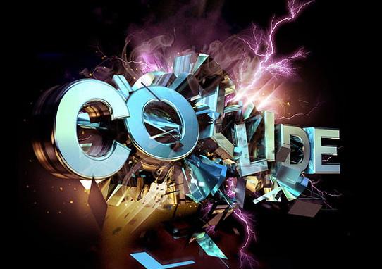 colide tutorial  14 Spectacular 3D Text Effects Tutorials