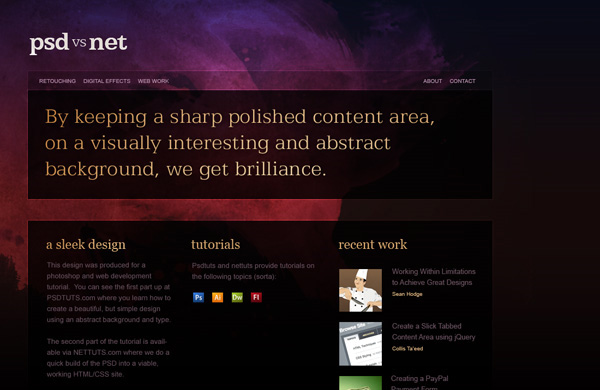 create a sleek high end web design from scratch 12 Of The Best Photoshop Web Design Tutorials