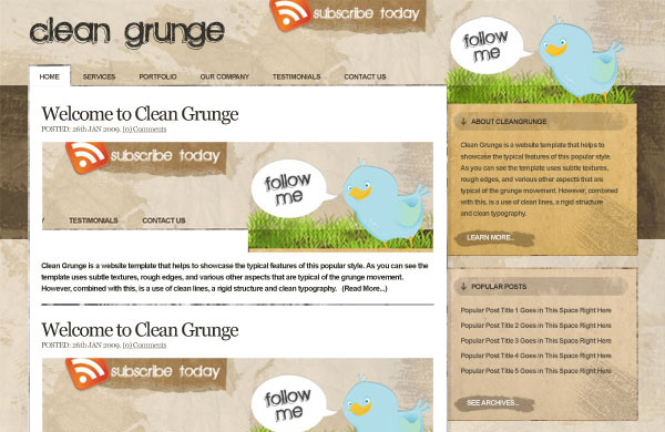 dean grunge 12 Of The Best Photoshop Web Design Tutorials