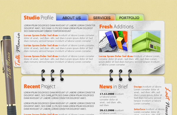 design agency layout 12 Of The Best Photoshop Web Design Tutorials