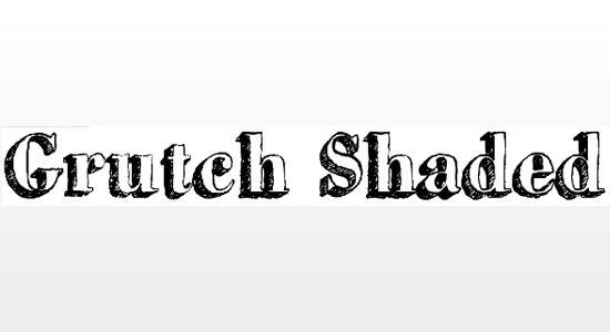 grutch shaded 10 Hand Written Great Free Fonts