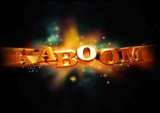 kaboom tutorial  14 Spectacular 3D Text Effects Tutorials