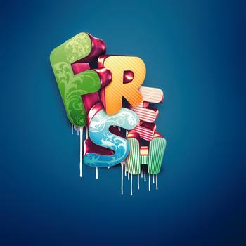 nik ainley 3d text effect  14 Spectacular 3D Text Effects Tutorials