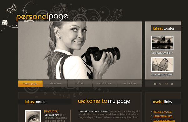 personalpage 12 Of The Best Photoshop Web Design Tutorials