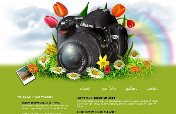 photographer layout portfolio layout 12 Of The Best Photoshop Web Design Tutorials