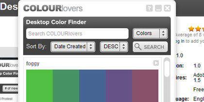 colour lovers 21 Adobe Air Apps For Designers And Social Media Addicts