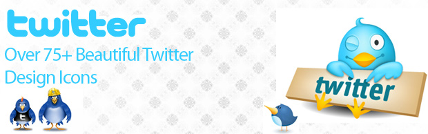 banner icon Over 75+ Beautiful Twitter Design Icons