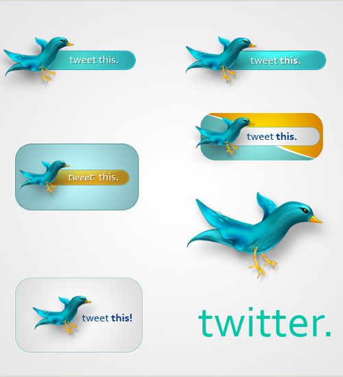 free psd Over 75+ Beautiful Twitter Design Icons