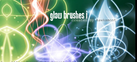 glowbrushes thumb 45+ Beautiful Light Abstract Photoshop Brush Sets