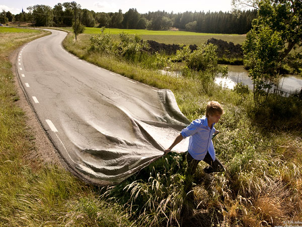 go your own road 22 Amazing Real Life Photo Manipulations