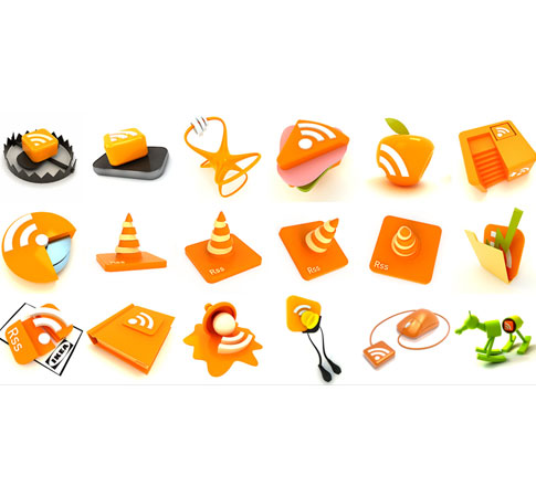 rss feed buttons  Ultimate RSS Feed Icon Collection Over 1500+
