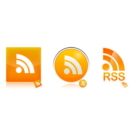 shiny glossy icons  Ultimate RSS Feed Icon Collection Over 1500+