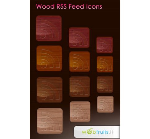 wood rss feed icon  Ultimate RSS Feed Icon Collection Over 1500+