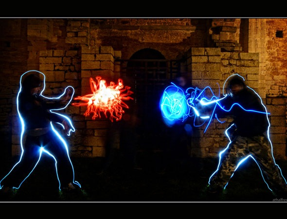 hadouken thumb 30 Awesome Examples Of Light Graffiti