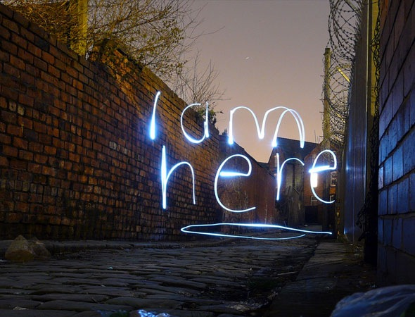 iamhere thumb 30 Awesome Examples Of Light Graffiti