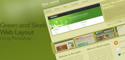 creatingasleekphotshopweblayout Best Of The Web July For Web/Graphic Design