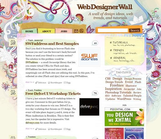 hand drawn webdesignwall 20 Creative Hand Drawn Websites Designs