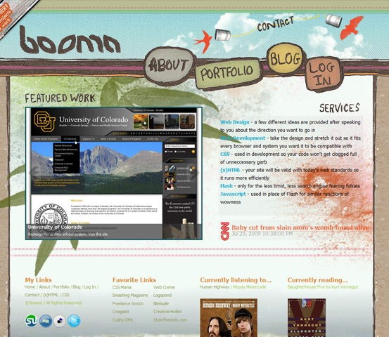 hand drawn websites bomma 20 Creative Hand Drawn Websites Designs