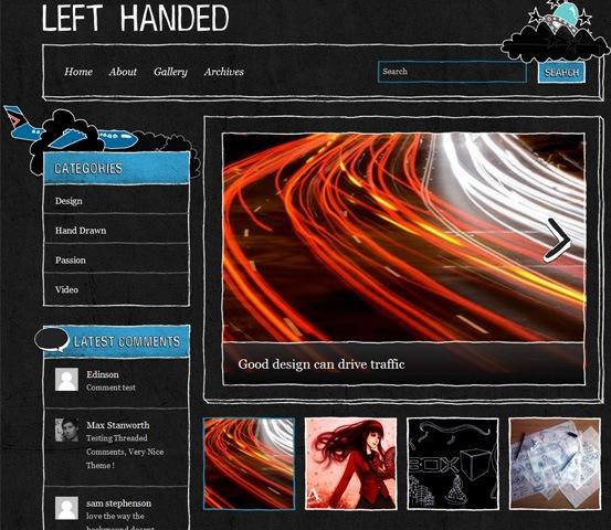 hand drawn websites left handed 20 Creative Hand Drawn Websites Designs