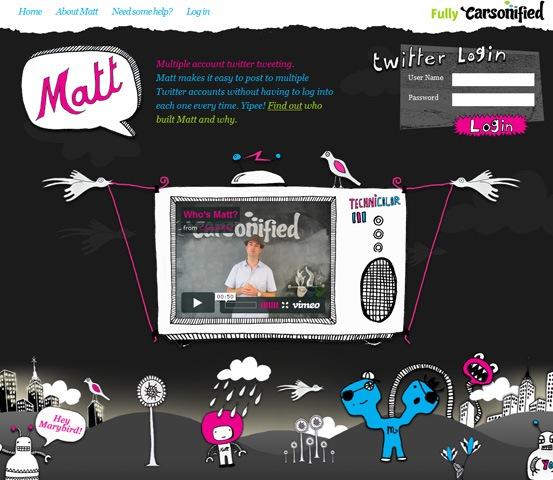 hand drawn websites themattinator 20 Creative Hand Drawn Websites Designs