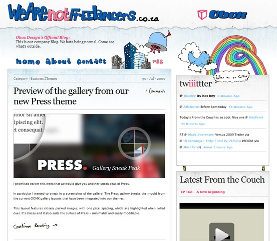 hand drawn websites we are not freelancers 20 Creative Hand Drawn Websites Designs