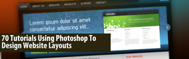 image93 70 Tutorials Using Photoshop To Design A Website