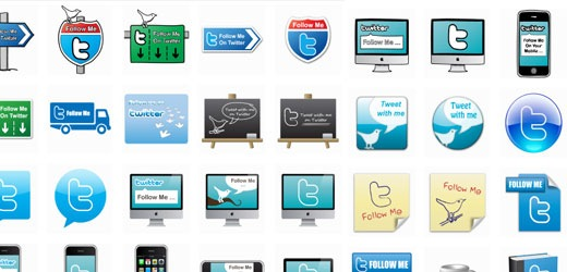 twitter icons Best Of The Web July For Web/Graphic Design
