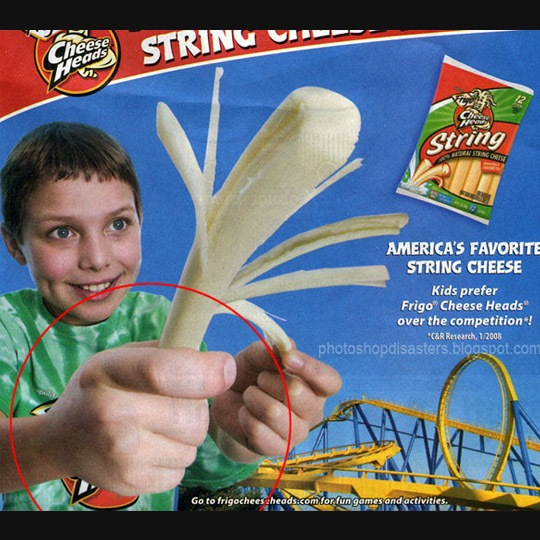 bigfinger 30 Horrific Commercial Photoshop Disasters