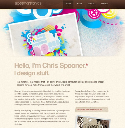 blogspoonportfolio Interview With Chris Spooner from Blog Spoon Graphics