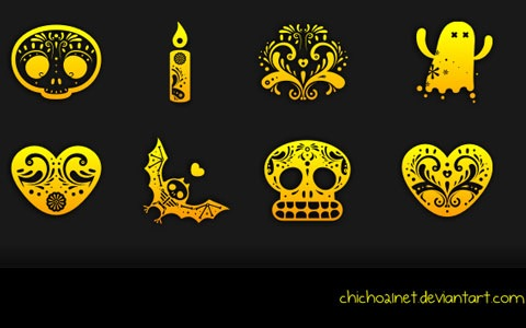 dornofdead 45 Halloween Icon Sets And Vector Resources