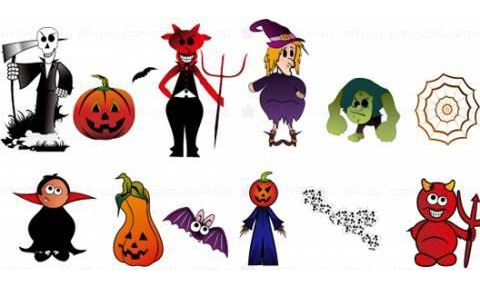 halloweencharacters 45 Halloween Icon Sets And Vector Resources