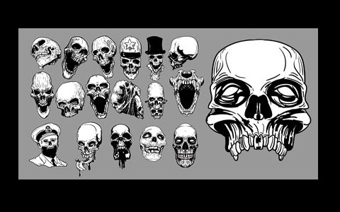 skulls 45 Halloween Icon Sets And Vector Resources