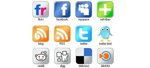 freeshinysocialmdiaicons 60 Best Icon Sets From 2009
