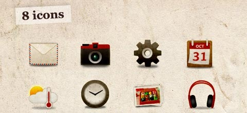 grungy 60 Best Icon Sets From 2009