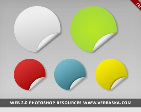 psdstickericons 70 Free High Quality PSD File Design Resources