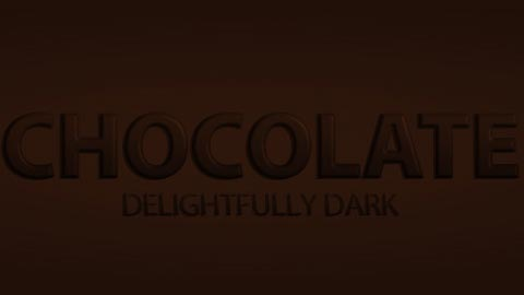 choclate-text-effect