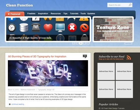 cleantexturedstylewebsitelayout 80 Fresh Photoshop Tutorials For Creating Awesome Websites