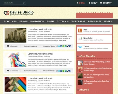 devisestudio 80 Fresh Photoshop Tutorials For Creating Awesome Websites