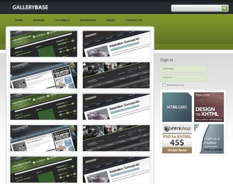gallerybase 80 Fresh Photoshop Tutorials For Creating Awesome Websites