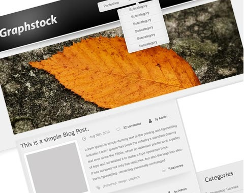 graphysrockwordpressmocklup 80 Fresh Photoshop Tutorials For Creating Awesome Websites