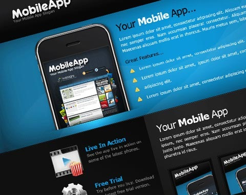 mobileapp 80 Fresh Photoshop Tutorials For Creating Awesome Websites