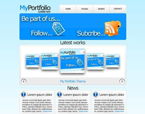 myportfolio 80 Fresh Photoshop Tutorials For Creating Awesome Websites