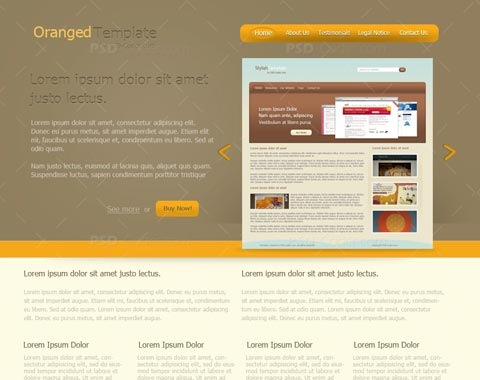 orangedtemplate 80 Fresh Photoshop Tutorials For Creating Awesome Websites