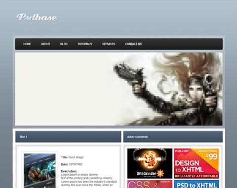 psdbaseblue 80 Fresh Photoshop Tutorials For Creating Awesome Websites