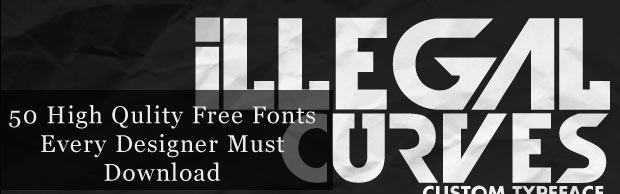 50fontsbanner 50 High Quality Fonts Every Designer Must Download