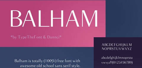 balm 50 High Quality Fonts Every Designer Must Download