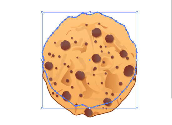 cookie 25 How to Create a Delicious Chocolate Chip Cookie In Illustrator