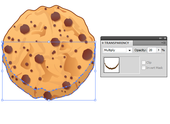 cookie 29 How to Create a Delicious Chocolate Chip Cookie In Illustrator