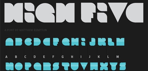 highfive 50 High Quality Fonts Every Designer Must Download